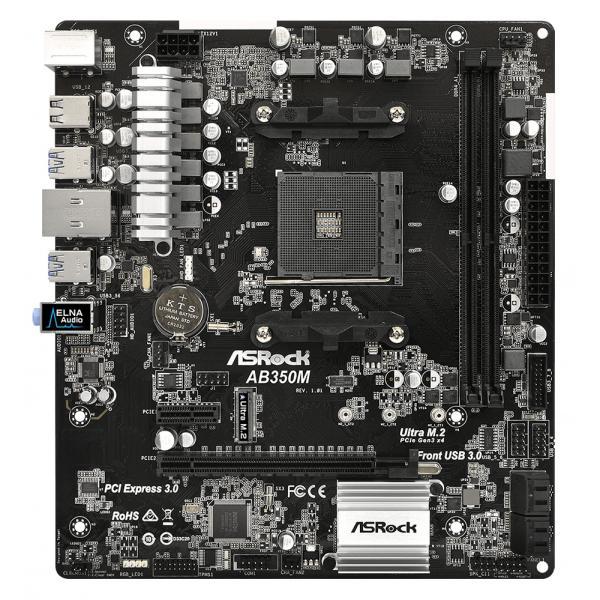 Asrock AB350M AMD B350 Socket AM4 Micro ATX scheda madre 4717677333190 90-MXB580-A0UAYZ 07_40640