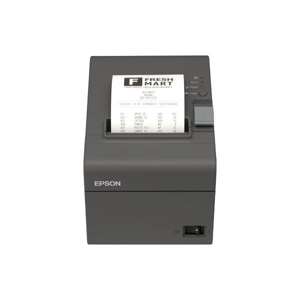 STAMPANTE EPSON TM-T20II-007 TERMICA PER SCONTRINI. Interfaccia LAN BUILT-IN USB Taglierina autom. Alimentatore di rete nero