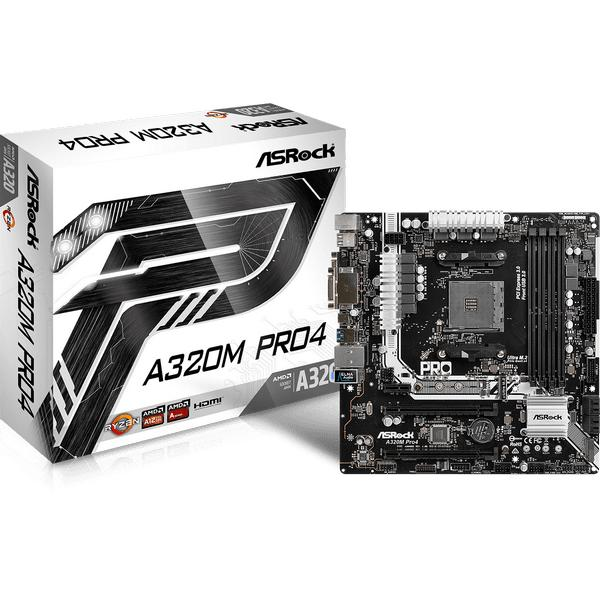 Asrock A320M Pro4 AMD A320 Socket AM4 Micro ATX scheda madre 4717677333183 90-MXB540-A0UAYZ 07_40650