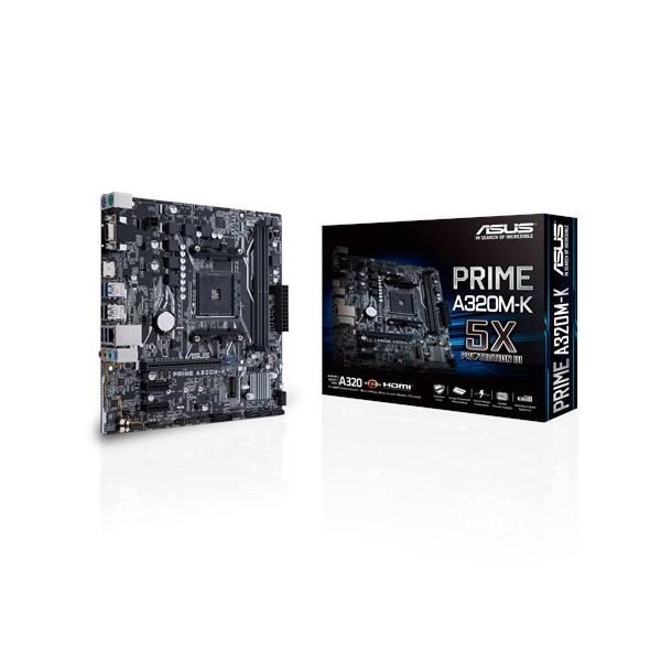ASUS MB PRIME A320M-K AMD A320 Socket AM4 Micro ATX scheda madre 4712900672060 90MB0TV0-M0EAY0 TP2_PRIME-A320M-K