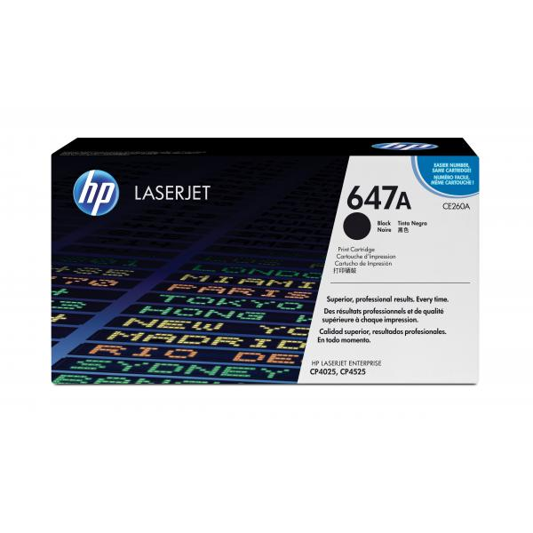 HP 647A Toner Cartridge - Black - Laser - 1 Each - CE260A