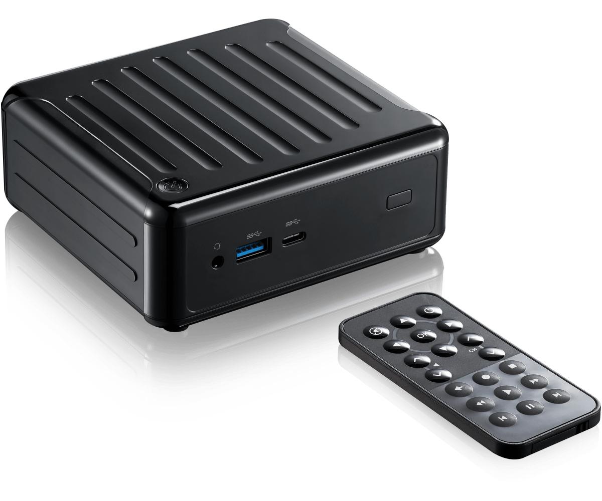 Asrock Beebox 90BXG3301-A10GA0P barebone per PC/stazione di lavoro BGA 1296 1,50 GHz J4205 PC di dimensione 0,6L Nero