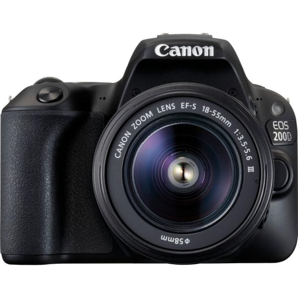 Canon EOS 200D + EF-S 18-55mm f/3.5-5.6 III Kit fotocamere SLR 24.2MP CMOS 6000 x 4000Pixel Nero 4549292092707 2250C011 08_2250C011