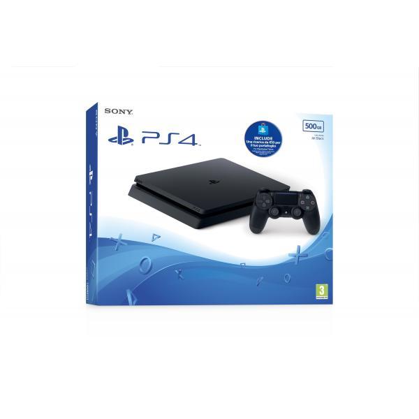 Sony Playstation 4 Slim + PS Live Card 500GB Wi-Fi Nero 0711719893967 9893967 TP2_9893967
