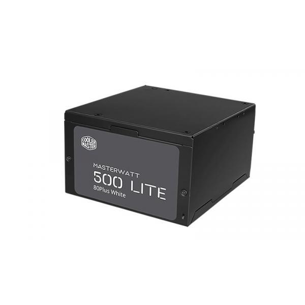 ALIMENTATORE COOLER MASTER 500W MasterWatt Lite 500 ATX 80+EU 230V Fan120mm 150x140x86mm Cavo EU MPX-5001-ACABW-ES