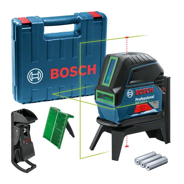 Bosch GCL 2-15 G Livella lineare/puntiforme 10 m 500-540 nm (< 10mW)