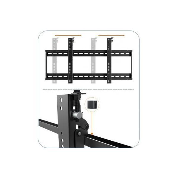 ICA-PLB 046F - Supporto a muro per TV LED LCD 45-70'' per applicazioni videowall