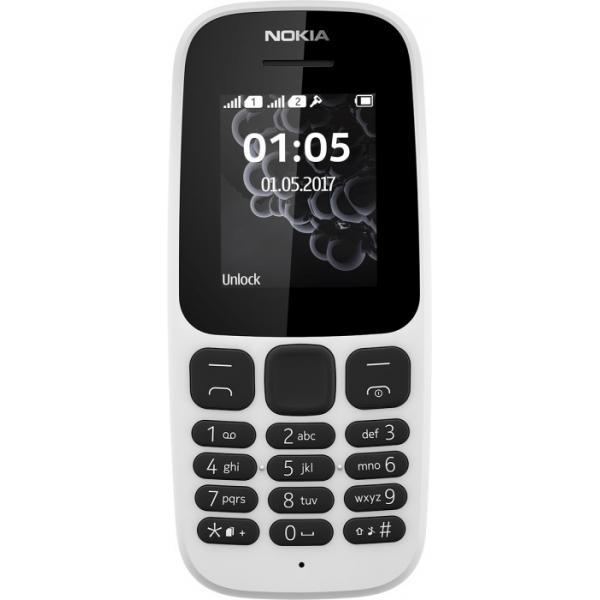 CELLULARE NOKIA 105 2017 A00028343 White 1,8