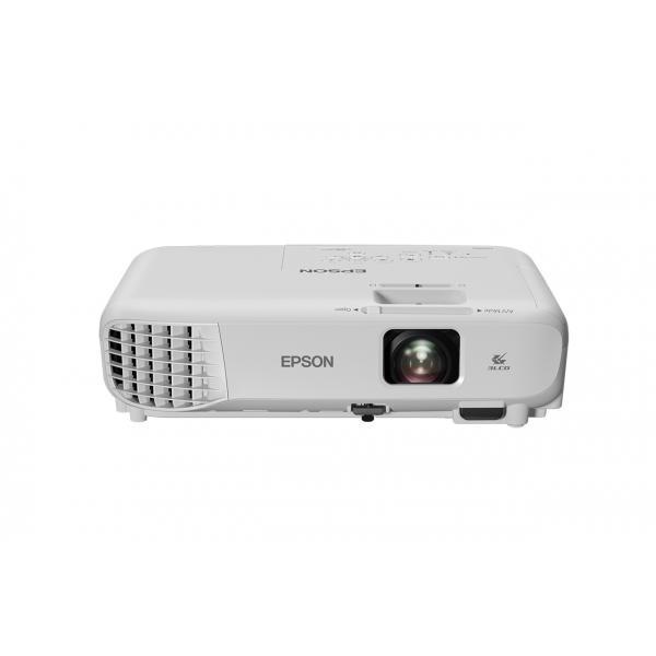VIDEOPROIETTORE EPSON EB-S05 3LCD SVGA 3200/15000:1 Lampada 10000h Eco 2,4kg Altoparlante 2W Telecomando e cavo alimentazione
