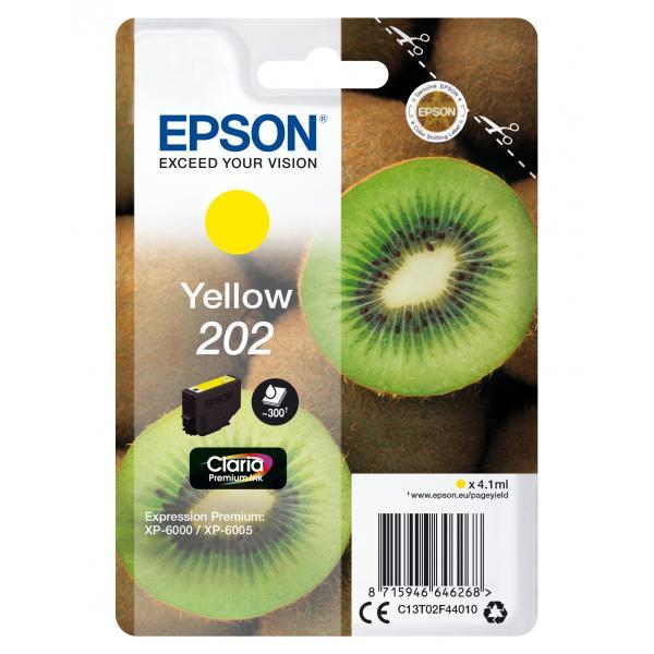 Epson Epson Kiwi Singlepack Yellow 202 Claria Premium Ink