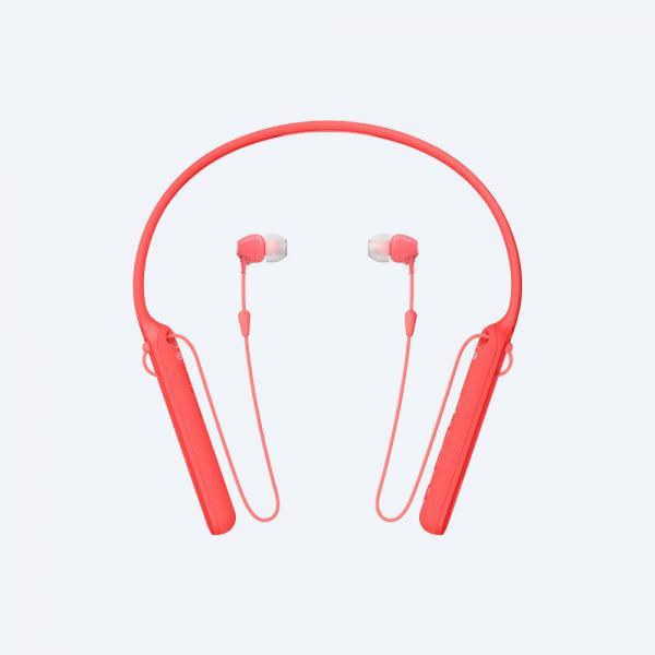Sony WI-C400 Auricolare, Passanuca Stereofonico Senza fili Rosso auricolare per telefono cellulare