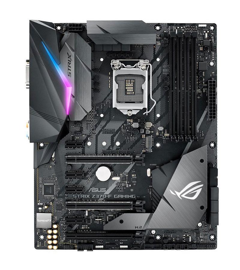 MB ASUS ROG STRIX Z370-F GAMING LGA1151 (COFFEE LAKE) 4DDR4 HDMI+DVI+DP 2*PCIe M2 OPTICAL OUT Aura Sync RGB LED ATX