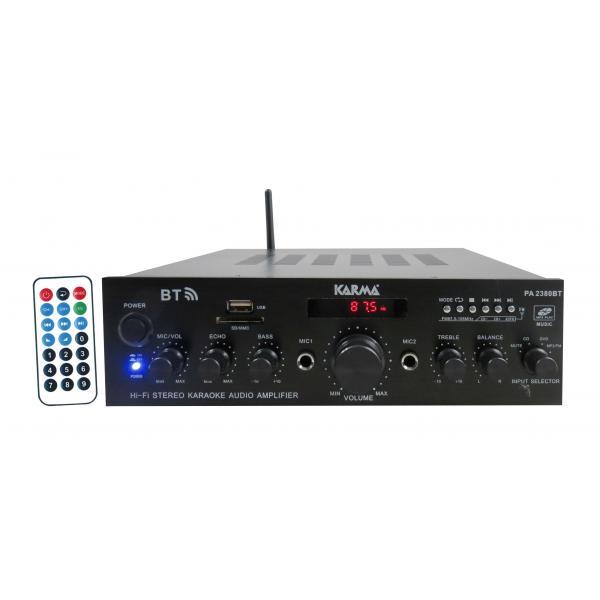 Amplificatore stereo 2x50W Display, MP3, Bluetooth