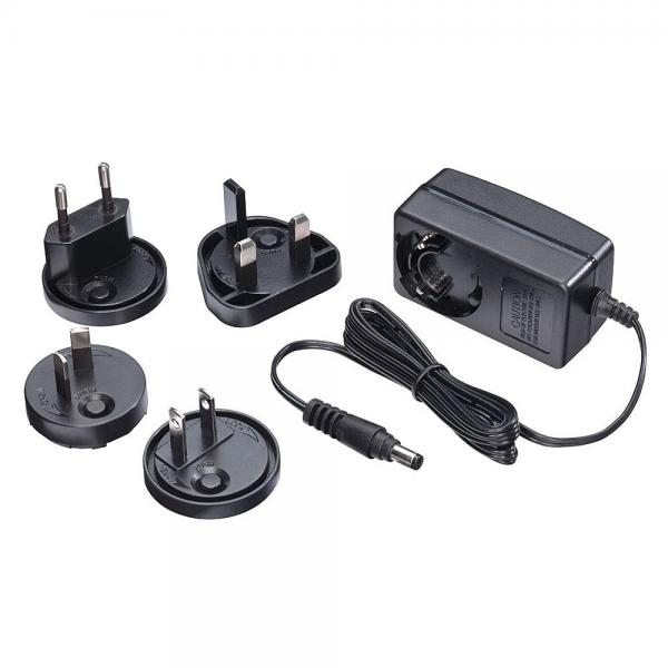 Alimentatore 5VDC 2.6A Multi-country, 5.5/2.1mm