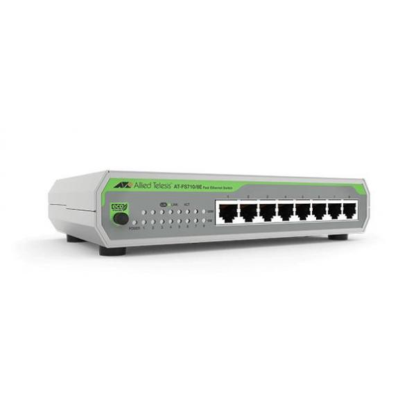 Allied Telesis AT-FS710/8E-60 Non gestito Fast Ethernet (10/100) Supporto Power over Ethernet (PoE) Grigio