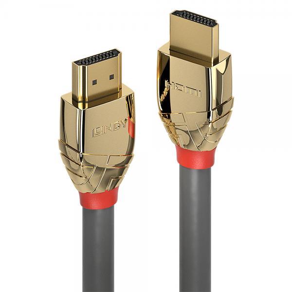37865 7.5m HDMI Type A (Standard) HDMI Type A (Standard) Oro, Grigio cavo HDMI