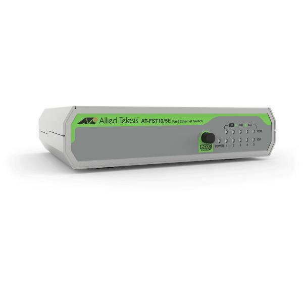 Allied Telesis FS710/5E Non gestito Fast Ethernet (10/100) Verde, Grigio