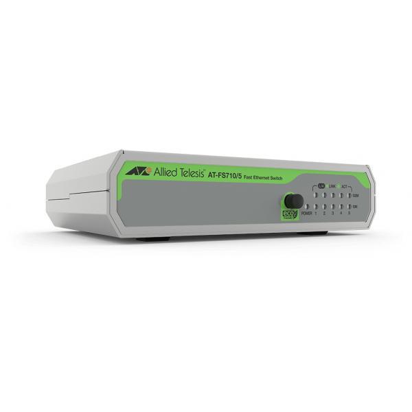 Allied Telesis FS710/5 Non gestito Fast Ethernet (10/100) Verde, Grigio
