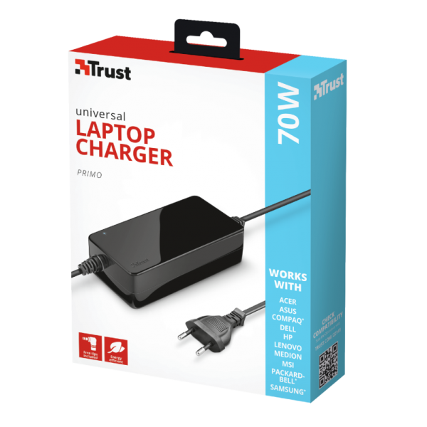 TRUST NOTEBOOK Primo 70W-19V Charger