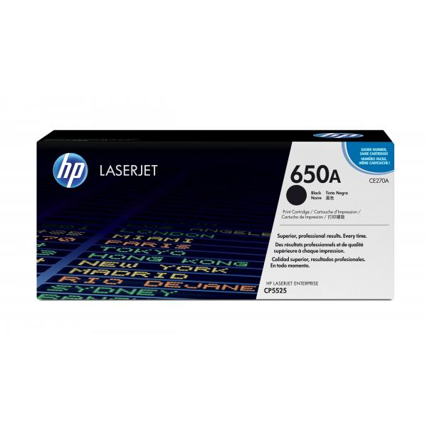 HP Color LaserJet CP5520 Black tonercartridge - CE270A