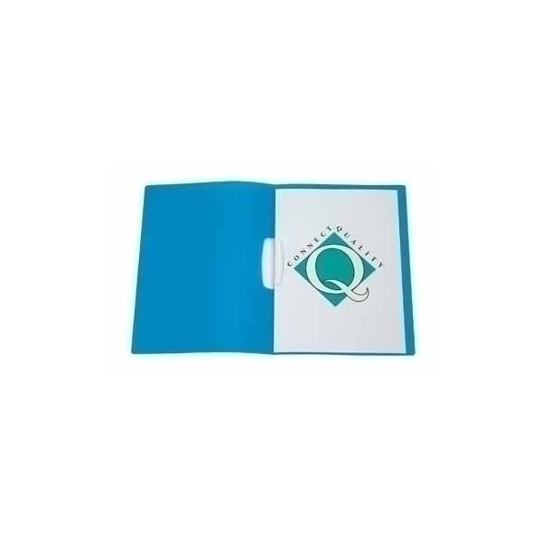 Connect Report Cover A4 Transparent Blue Blu cartellina con fermafoglio