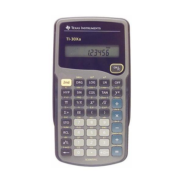 TI30XA, tasca, Scientifico, Grigio, Pulsanti, Batteria