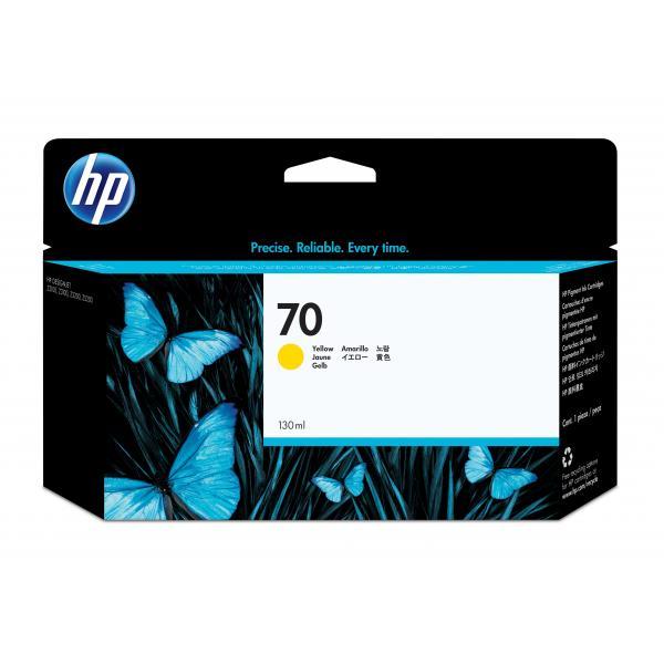 HP HP Cartuccia inchiostro DesignJet giallo 70, 130 ml cartuccia d'inchiostro
