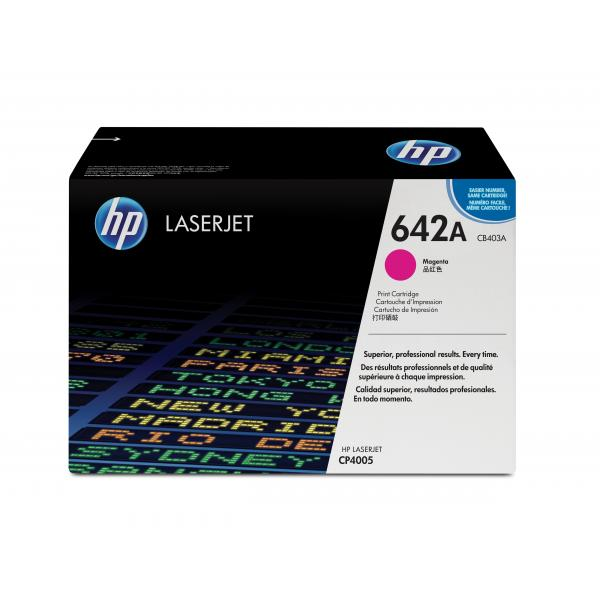 HP Color LaserJet CP4005 Magenta Crtg Contains one HP Color LaserJet CP4005 magenta print cartridge with an average yield of 7.500 pages - CB403A