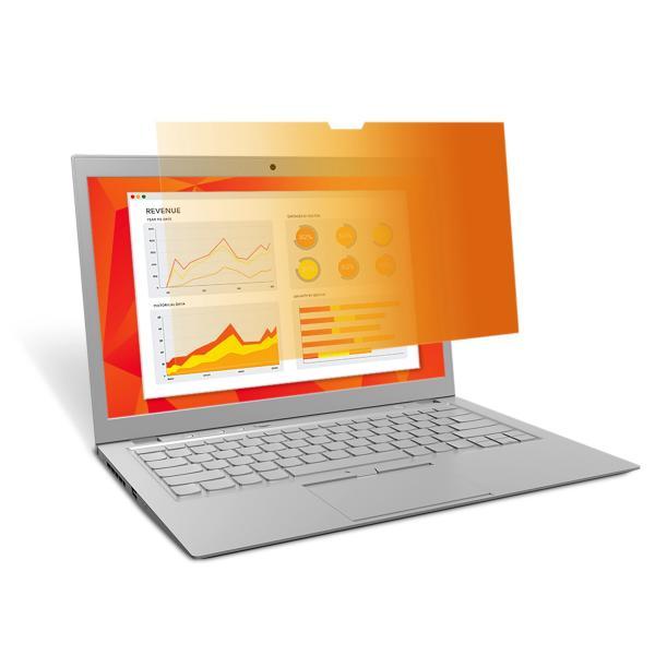 3M Filtro privacy Gold Touch per laptop a schermo intero da 15,6