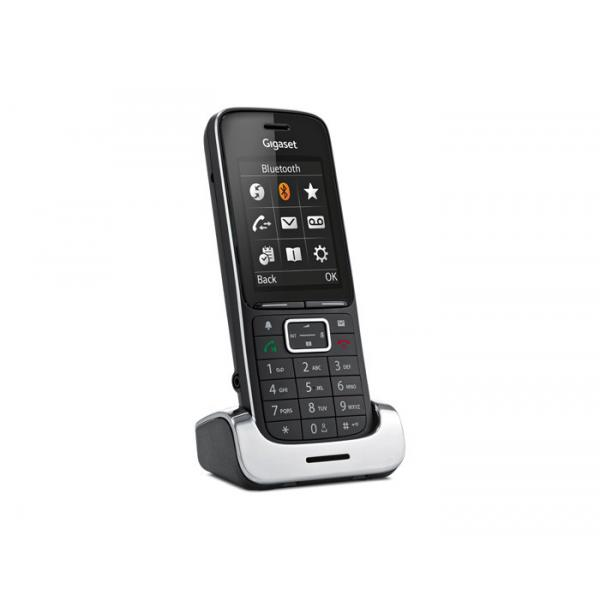 Gigaset SL450HX Telefono DECT Nero, Argento
