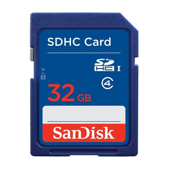 SanDisk Scheda di Memoria SDHC 32 GB Classe 4 SDSDB-032G-B35