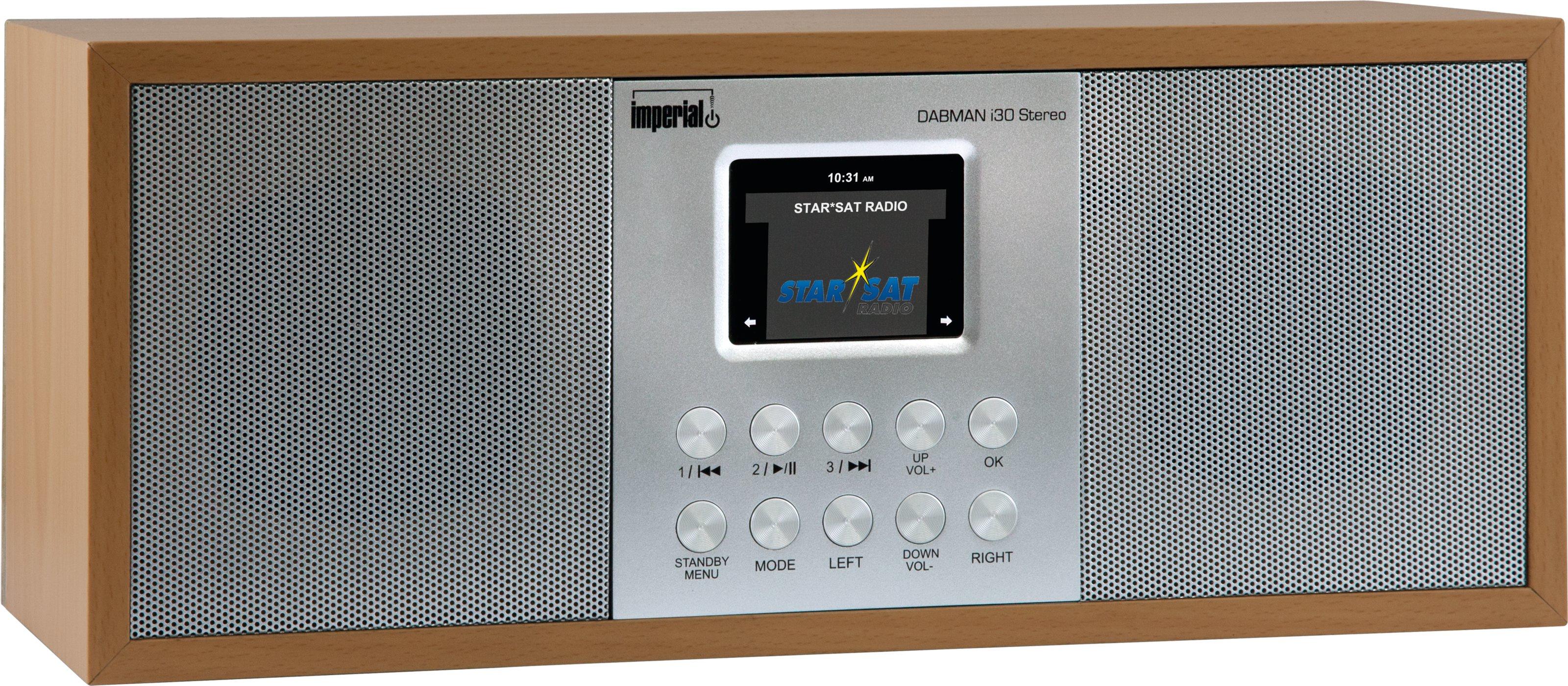 Imperial DABMAN i30 Stereo Portatile Analogico e digitale Legno