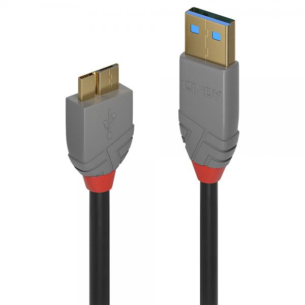 Lindy 1M USB 3.1 A/MICRO-B  ANTHRA
