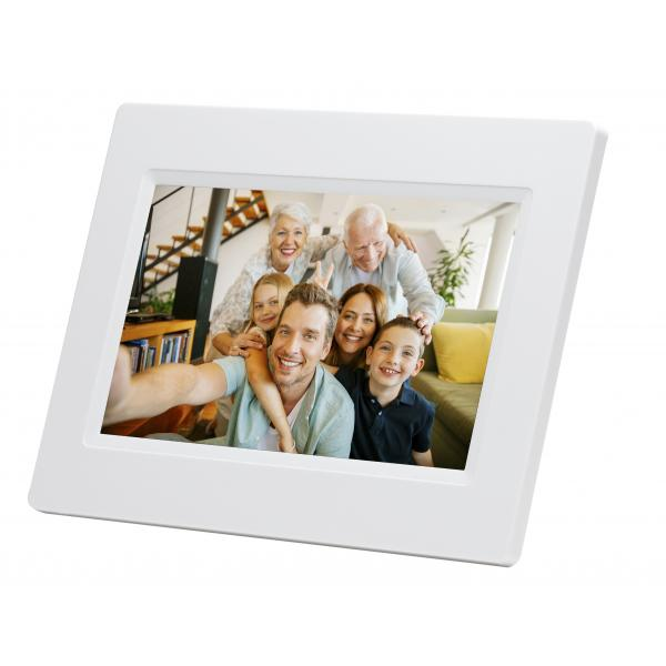 Denver PFF-710WHITE cornice per foto digitali Bianco 17,8 cm (7
