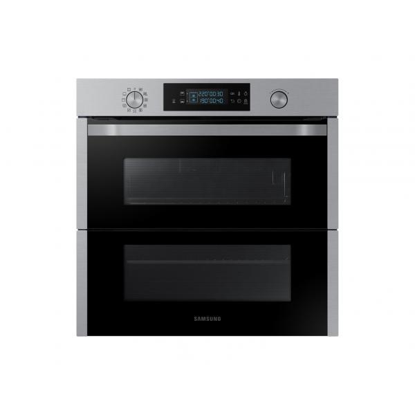 Samsung NV75N5641BS - Forno Multifunzione da Incasso, Dual Cook Flex, 75 Litri, A+