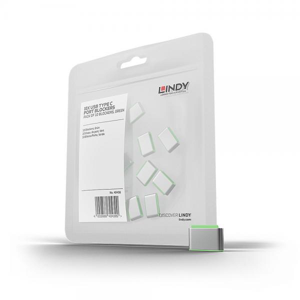 Blocca porte USB Tipo C (senza chiave), 10 pezzi, bianco