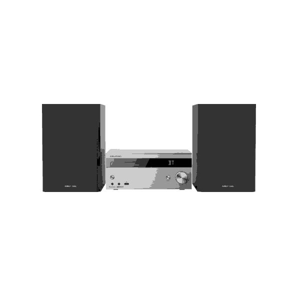 Grundig CMS 4000 BT DAB+ Microsistema audio per la casa Nero, Argento 100 W
