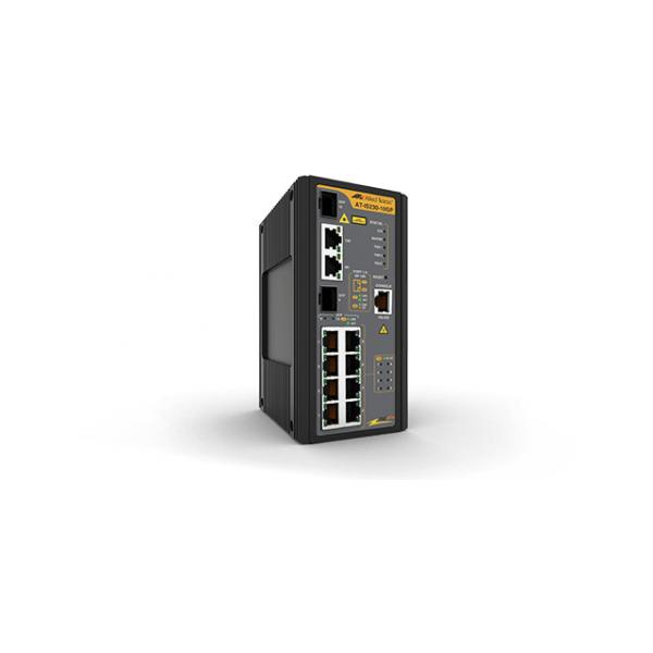 Allied Telesis AT-IS230-10GP-80 Gestito L2 Gigabit Ethernet (10/100/1000) Nero Supporto Power over Ethernet (PoE)
