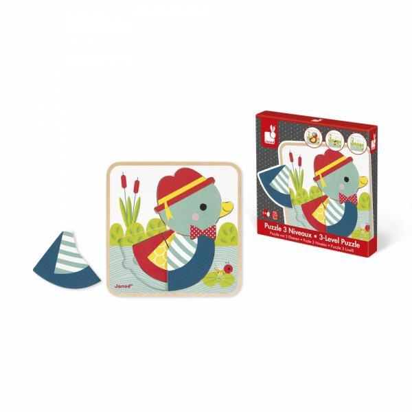 J07030 Paparette - Puzzle Multi-livello 3 in 1