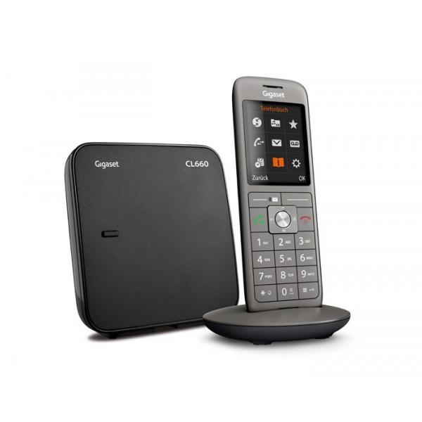 Gigaset CL660 Telefono analogico/DECT Antracite Identificatore di chiamata