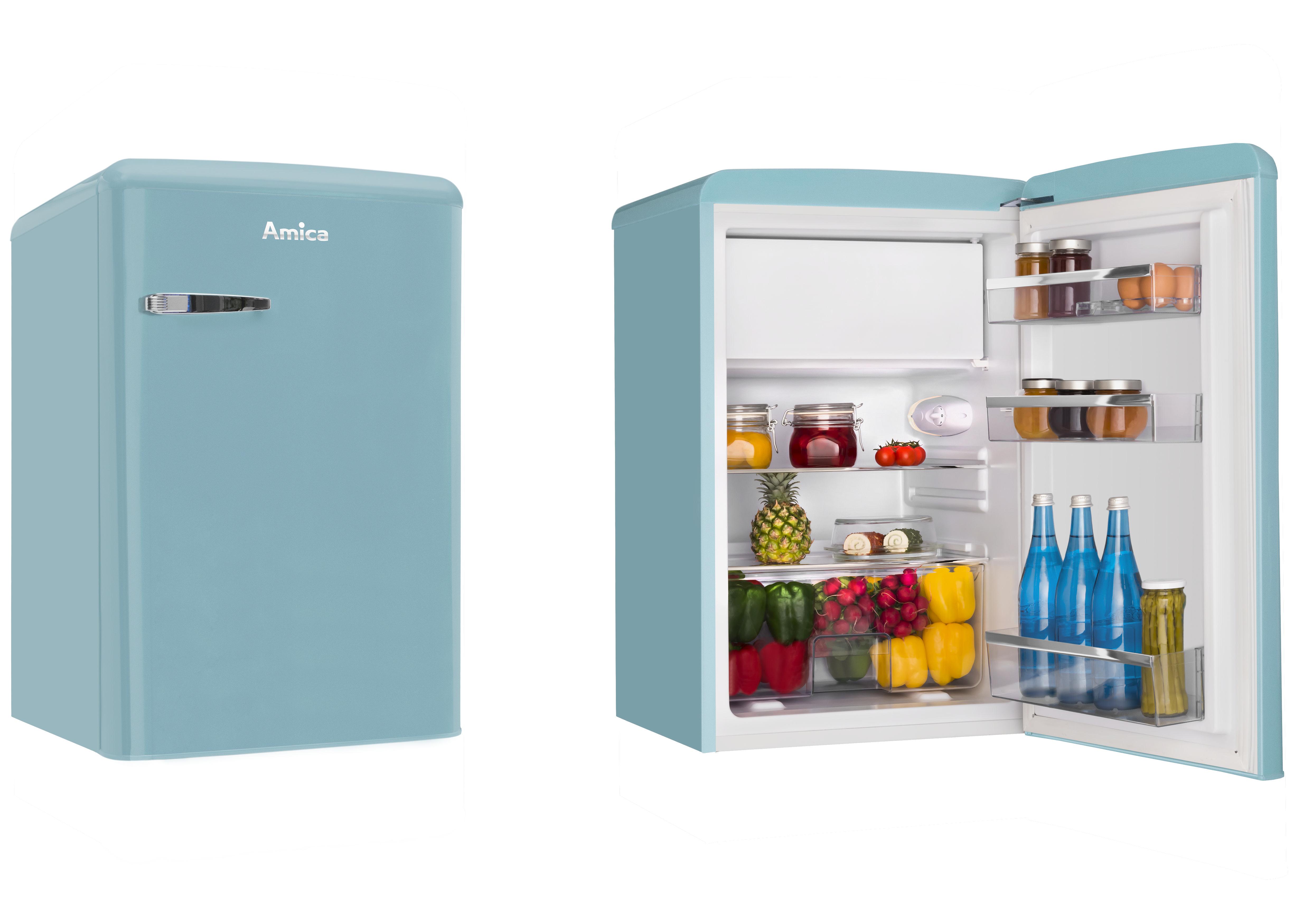 Amica KS15612T frigorifero con congelatore Libera installazione Blu