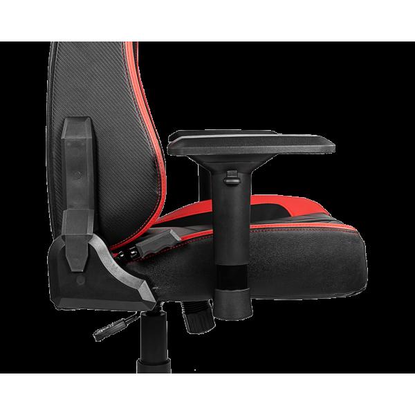 MSI MAG CH110 Sedia da gaming per PC Seduta imbottita Nero, Rosso