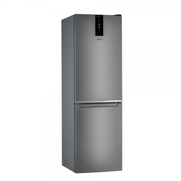 Whirlpool W7 831T MX - Frigorifero con congelatore, Libera installazione, Acciaio inossidabile, 343 Litri, Classe D ( A+++)