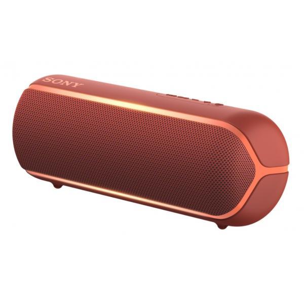 Sony SRS-XB22. Tipo di speaker: Full range, Diametro dell'unità: 4,2 cm. Range di frequenza: 20 - 20000 Hz. Tecnologia di connessione: Con cavo e senza cavo, Profili Bluetooth: A2DP,AVRCP,HFP,HSP,SPP, Portata Bluetooth: 10 m. Tipo di prodotto: Altoparlante portatile stereo, Colore del prodotto: Rosso, Codice di protezione internazionale (IP): IP67. Utilizzo raccomandato: Universale, Formati audio supportati: AAC,SBC