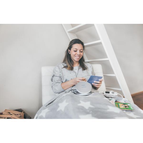 CD-201SI CD-201SI - Lettore CD / MP3 portatile, anti-shock e funzione ricarica, colore: Bianco