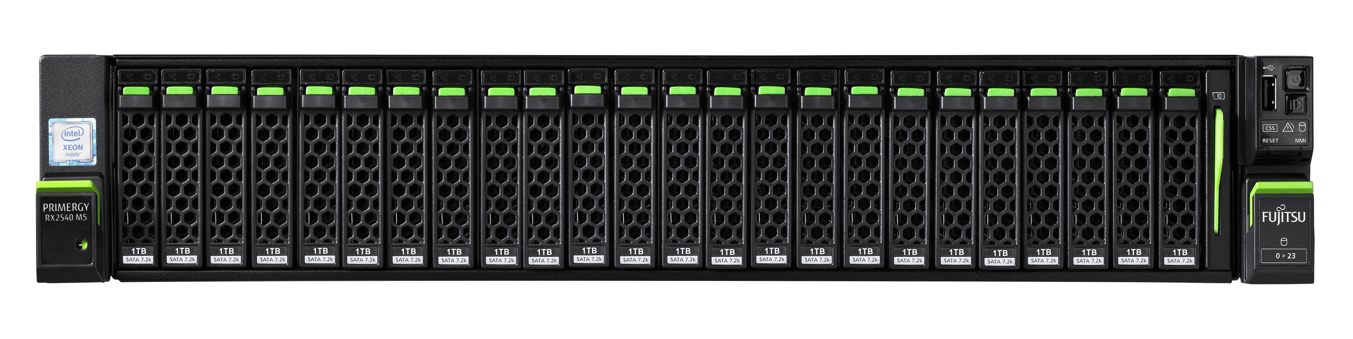 Fujitsu PRIMERGY RX2540 M5 server Intel® Xeon® Gold 3,3 GHz 32 GB DDR4-SDRAM 12 TB Armadio (2U) 450 W