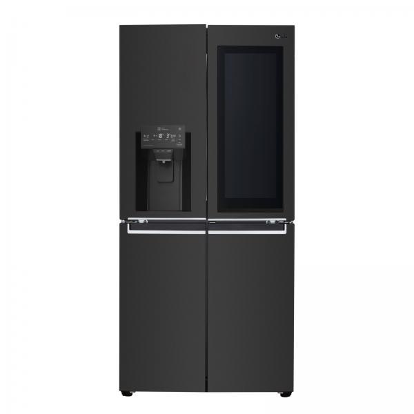Lg GMX844MCKV - Frigorifero Side by Side, Multidoor, Instaview, 5 porte, 508 Litri, No Frost, Black Ste, Classe F (A+)