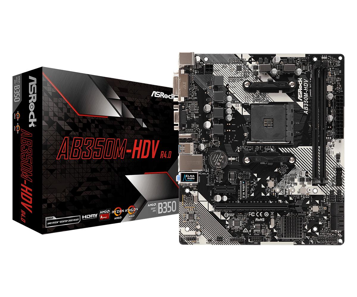ASROCK AB350M-HDV R4.0 (AM4) (D)
