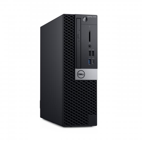 DELL OptiPlex 7070 Intel® Core™ i7 di nona generazione i7-9700 16 GB DDR4-SDRAM 256 GB SSD SFF Nero PC Windows 10 Pro