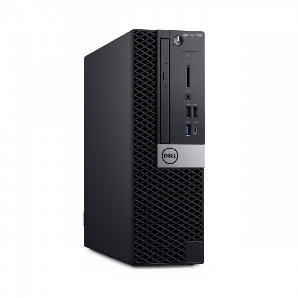 DELL OptiPlex 7070 Intel® Core™ i7 di nona generazione i7-9700 8 GB DDR4-SDRAM 256 GB SSD SFF Nero PC Windows 10 Pro